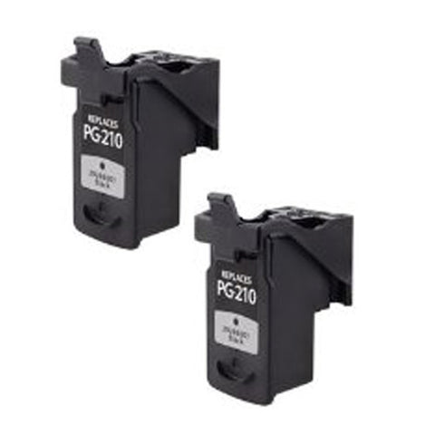 Amsahr Canon PG-210XL, MP240, MP250, MP260 Remanufactured Replacement Ink Cartridges - Includes TWO BLACK Cartridges