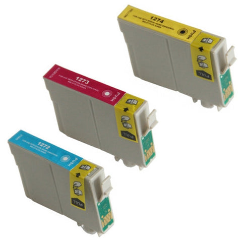 Amsahr Epson T127420, NX625 Remanufactured Replacement Ink Cartridges - Includes Set of 3 Color Ink Cartridges