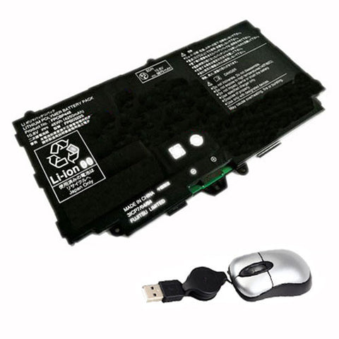 amsahr Replacement Battery for FUJI FPCBP448 (10.8V, 46WH, 4250mAh) - Includes Mini Optical Mouse