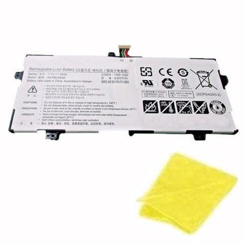 amsahr Replacement Battery for SAMSUNG AA-PBUN4AR, Notebook 9 Spin, ATIV Book 9 Spin 940X3L, 900X5L-K01, NP900X5L-K02CN (7.7V, 39WH) - Includes Cleaning Cloth