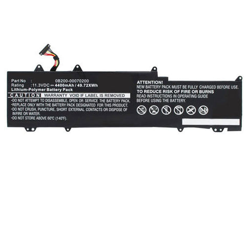 amsahr Extended Performance Replacement Battery for Asus 0B200-00070200, C31N1330, C31PO95, UX32LN-R4053H, UX32LN (4400mAh, 11.31V, 3 Cell).