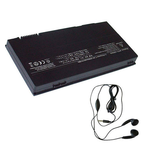 amsahr Extended Life Replacement Battery for ASUS AP21-1002HA, Eee PC 1002HA, Eee PC S101H, S101H-BLK042X, S101H-BRN043X, S101H-CHP035X, S101H-PIK025X (4200mAh, 7.40V) - Includes Stereo Earphone