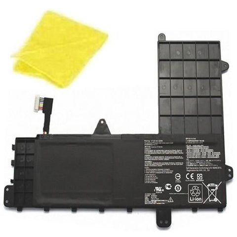 amsahr Replacement Battery for ASUS B21N1506, EeeBook E502MA-XX0016D, EeeBook E502MA-XX0020H, EeeBook E502MA, 0B200430600 (7.6V,  32WH) - Includes Cleaning Cloth