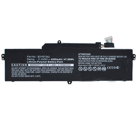 amsahr Extended Performance Replacement Battery for ASUS B31N1342, C200MA-DS01, C200MA-KX003, Chromebook C200, Chromebook C200M, Chromebook C200MA (4110MAH, 48WH, 11.4V)