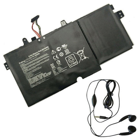 amsahr Extended Life Replacement Battery for ASUS B31N1402, Q551LN, Q551, N591LB, Q551L, 0B200-01050000, 0B200-01050000M, B31Bn9H, B31N1402 (11.4V, 48WH) - Includes Stereo Earphone