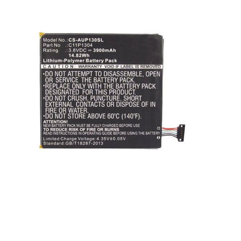 amsahr Extended Performance Replacement Battery for ASUS C11P1304, ME137, ME173X, MeMO Pad HD7 (14.82Wh, 3.8V)