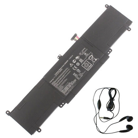 amsahr Extended Life Replacement Battery for ASUS C31N1339, UX303L, Q302L Series (50Wh, 11.31V) - Includes Stereo Earphone