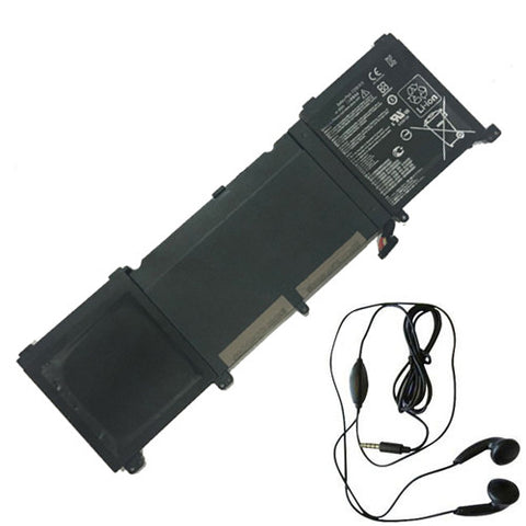amsahr Extended Life Replacement Battery for ASUS C32N1415, ZenBook Pro UX501JW4720, UX501JW, UX501JW-CN245T, UX501JW-FI177T, UX501LW, UX501JW4720 (11.4V, 96WH) - Includes Stereo Earphone