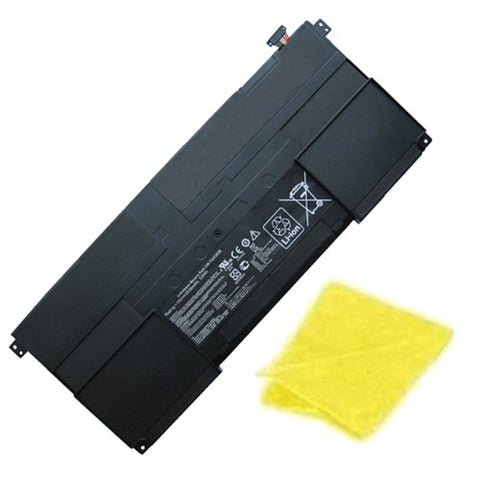 amsahr Replacement Battery for ASUS C41-TAICHI31, Taichi 31-CX003H, TAICHI 31, 90NB0081-S00030, C41-TAICH131, C41-TAICHI31 (15V, 53WH) - Includes Cleaning Cloth