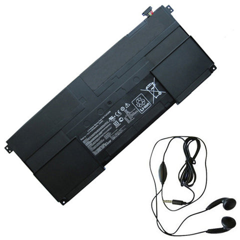 amsahr Extended Life Replacement Battery for ASUS C41-TAICHI31, Taichi 31-CX003H, TAICHI 31, 90NB0081-S00030, C41-TAICH131, C41-TAICHI31 (15V, 53WH) - Includes Stereo Earphone