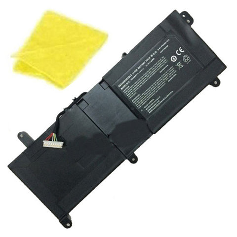 amsahr Replacement Battery for CLEVO P640BAT-3, Thunderobot ST-R1, ST 911ST series, 6-87-P640S-423, 3ICP7/65/80, 6-87-P640S-4231A (11.1V, 45WH) - Includes Cleaning Cloth