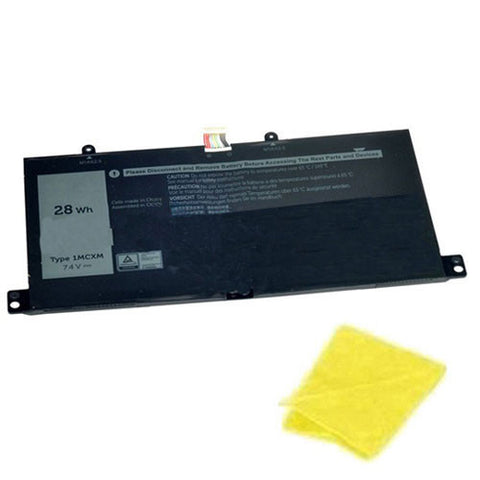 amsahr Replacement Battery for DELL 1MCXM, G3JJT (7.4V, 28WH) - Includes Cleaning Cloth