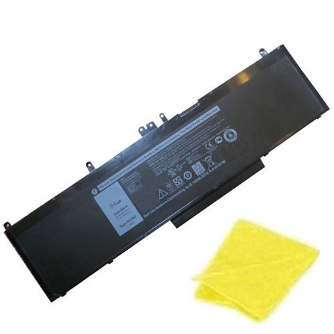 amsahr Replacement Battery for DELL WJ5R2, PRECISION 3510, 4F5YV (7350mAh/84Wh,11.4V) - Includes Cleaning Cloth