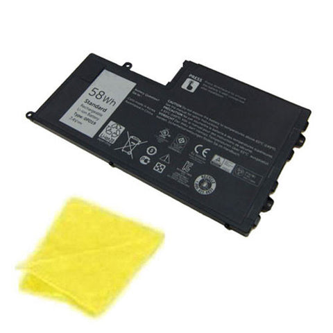 amsahr Replacement Battery for DELL 0PD19, Dell Latitude 3550-0123, Latitude 3550, Dell 0DFVYN, 0PD19, 58DP4, OPD19 (7.4V, 7600MAH/58WH, 4-CELL) - Includes Cleaning Cloth