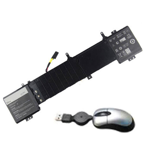 amsahr Replacement Battery for Dell 191YN, ALW15ED-1718, ALW15ED1718, Alienware 15 Series, ALW15ED-1728, ALW15ED1728, ALW15ED-1828, 2F3W1 (92WH, 14.8V) - Includes Mini Optical Mouse