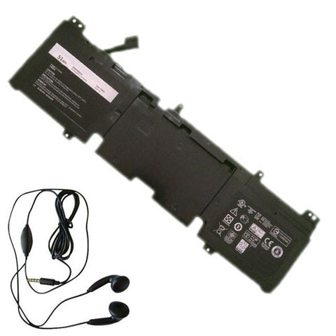 amsahr Extended Life Replacement Battery for DELL 3V8O6, 3V806, Alienware ECHO 13 Series, Alienware QHD Series, Alienware 13 ALW13ED-1608, 13 ALW13ED-2608 (51Wh, 14.8V) - Includes Stereo Earphone