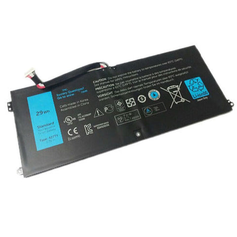 amsahr Extended Performance Replacement Battery for DELL 427TY, DELL TYPE 427TY, TABLET DXR10, 05F3F9, P12GZ1-01-N01, PGF3592A5A (3.7V, 7695mAh/29Wh, 2-Cell)