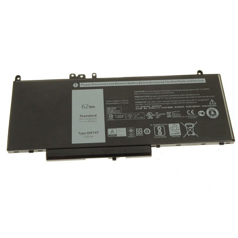 amsahr Extended Performance Replacement Battery for DELL 6MT4T, LATITUDE 15 5000, LATITUDE E5470, LATITUDE E5570, LATITUDE 14-E5470, LATITUDE 14 5000 (7.6V, 8260MAH/62WH, 6-CELL)