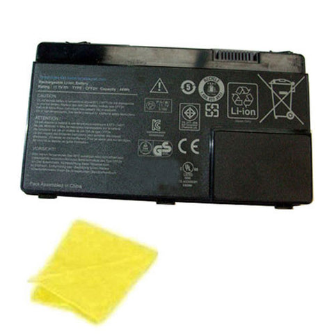 amsahr Replacement Battery for DELL CFF2H, DELL INSPIRON 13Z, 13ZR, 13ZD, M301, M301Z, M301ZD, M301ZR, N301, N301Z, N301ZD, N301ZR (11.1V, 4000MAH/44WH) - Includes Cleaning Cloth