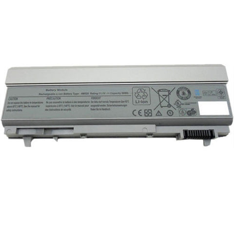 amsahr Extended Performance Replacement Battery for DELL Latitude F8TTW, E6400, E6410, 4M529 (6600mAh, 11.1V, 9-Cell)
