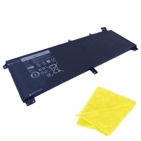 amsahr Replacement Battery for Dell TOTRM, CN-0T0TRM, H76MV, OH76MV, Y758W, M3800, 9530, 15 9530, 15D-2721, 15D-2828, 15D-1728, 15D-4728 (11.1V, 61Wh) - Includes Cleaning Cloth