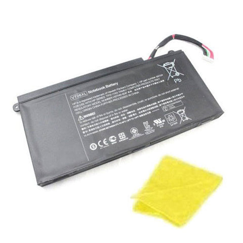 amsahr Replacement Battery for HP 657503-001, ENVY 17 3D, Envy 17-3000, Envy 17T-3000, 657240-151, 657240-171, 657240-251, 996TA008H (86Wh, 11.1V, 6-Cell) - Includes Cleaning Cloth