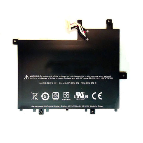 amsahr Superior Quality Replacement Battery for HP 728687-001, 724536-001, 724712-001, 728687-001, FB1350, SUN-B12, SUN-B12-S, HP slate 7 tablet (3.7V, 3500MAH/12.95WH)