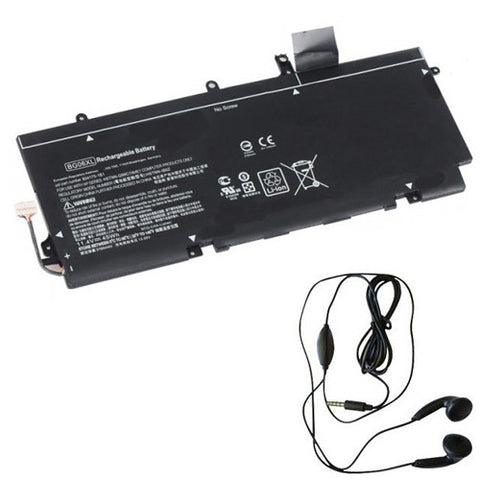 amsahr Extended Life Replacement Battery for HP BG06XL, EliteBook 1040 G3(P4P90PT), EliteBook 1040 G3, EliteBook 1040 G3(P4P89PT)  (11.4V, 45WH) - Includes Stereo Earphone