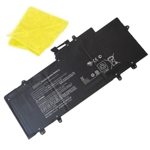 amsahr Replacement Battery for HP BU03XL, Chromebook 14-AK, Chromebook 14 G4, 816498-1B1, 816609-005, BU03XL, HSTNN-IB7F, TPN-Q167  (11.4V, 37.3WH) - Includes Cleaning Cloth
