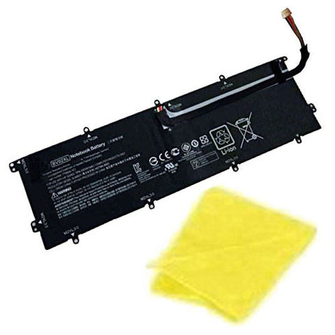 amsahr Replacement Battery for HP BV02XL, ENVY x2 Detachable 13, HSTNN-IB6Q, HSTNNIB6Q, 775624-1C1, 7756241C1, 776621-001, 776621001, TPN-I116 (7.6V, 33WH) - Includes Cleaning Cloth