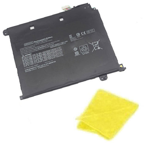 amsahr Replacement Battery for HP DR02XL, Hp HSTNN-IB7M, 859027-121, 859027-121, DR02043XL, DR02XL, HSTNN-IB7M, TPN-W123  (7.7V, 43.7WH) - Includes Cleaning Cloth