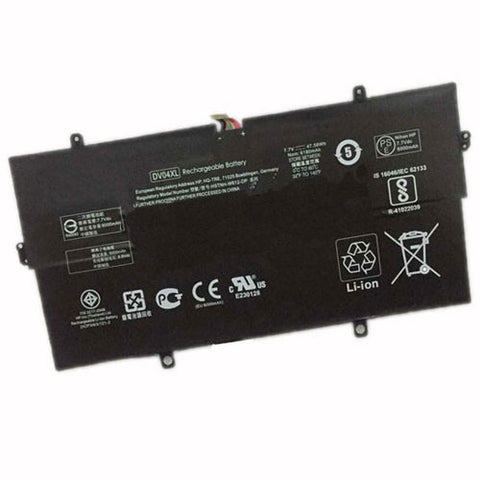 amsahr Extended Performance Replacement Battery for HP DV04XL, HP 863693-2B1, HP 863693-2C1, HP DV04046XL, HP HSTNN-W612, HP HSTNN-W612-DP (7.7V, 47.58WH).