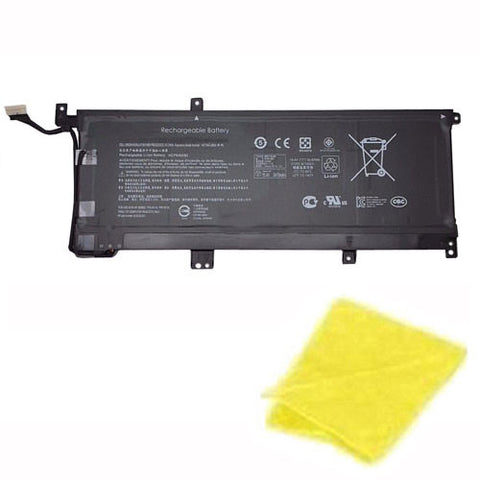 amsahr Replacement Battery for HP MB04XL, HP Envy x360 15-aq105ng, HP MBO4XL, HP TPN-W119, HP TPN-W120, HP Envy x360 15-aq104ng (15.4V, 55.67WH) - Includes Cleaning Cloth.