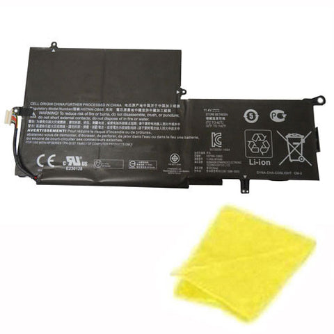 amsahr Replacement Battery for HP PK03XL, HP 15-AY, HP Envy X360 13-Y, HP Spectre X360 13-4000, 13T-4000, HSTNN-DB6S, 789116-005 (11.4V, 56WH) - Includes Cleaning Cloth.