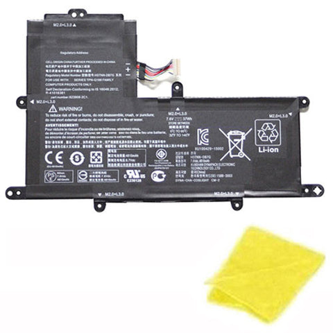 amsahr Replacement Battery for HP PO02XL, 824560-005, 823908-1C1, HP Stream, 11-R 11-R014WM Series (7.6V, 37WH) - Includes Cleaning Cloth.