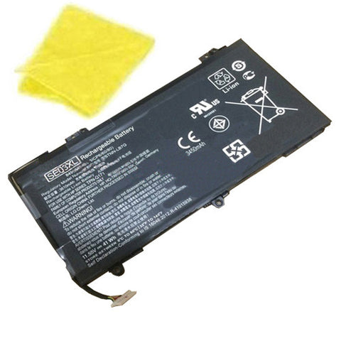 amsahr Replacement Battery for HP SE03XL, Pavilion 14-AL100,Pavilion 14-AL125TX, Pavilion 14-AL136TX, Pavilion 14-AL027TX,Pavilion 14-AL028TX  (11.55V, 41.5WH) - Includes Cleaning Cloth