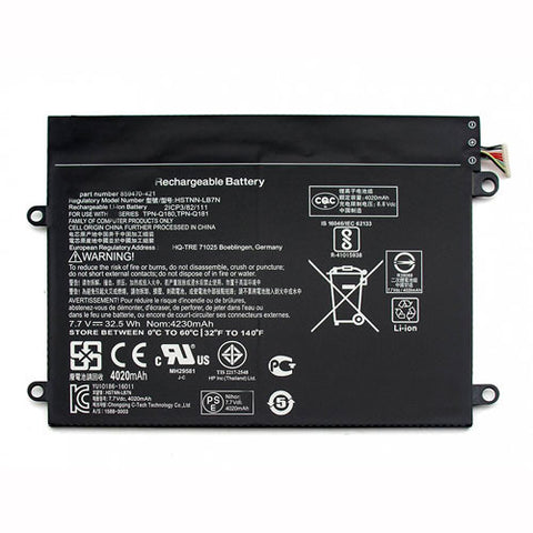 amsahr Superior Quality Replacement Battery for HP SW02XL, HP 859470-1B1, HP HSTNN-IB7N (7.7V, 32.5WH).