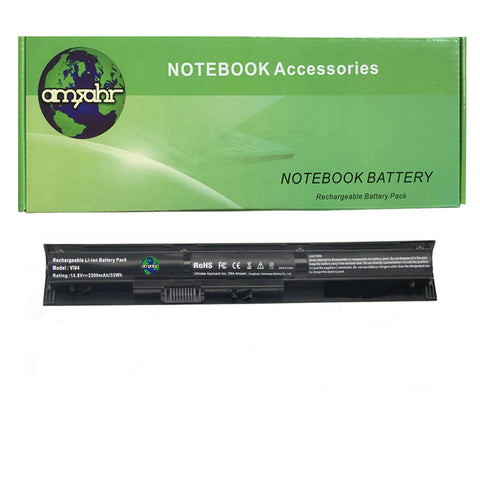 Amsahr 100% Compatible Non-OEM Replacement Durable Laptop Battery for HP VI04 14-v000-v099 14-u000 15-k000 15-x000 17-x000 Series with Rechargeable and No Memory Effect and Power Surge Protection