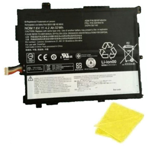 amsahr Replacement Battery for Lenovo 00HW017 (7.5V, 32WH) - Includes Cleaning Cloth.