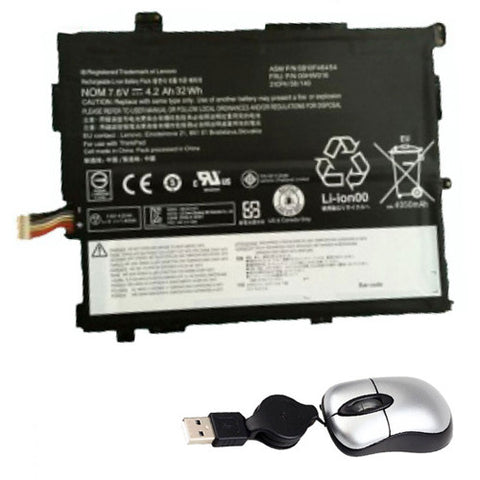amsahr Replacement Battery for Lenovo 00HW017 (7.5V, 32WH) - Includes Mini Optical Mouse.