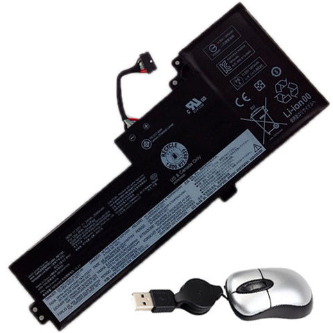 amsahr Replacement Battery for LENOVO 01AV421, Lenovo ThinkPad T470 (11.55V, 24WH, 3cell) - Includes Mini Optical Mouse.