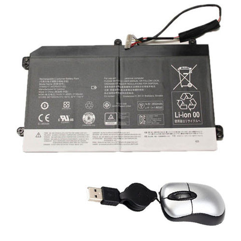 amsahr Replacement Battery for LENOVO IDEACENTRE FLEX 20 10142,LENOVO 31504217, 41CP5/57/122 (14.8V, 3135MAH/46WH, 4-CELL) - Includes Mini Optical Mouse