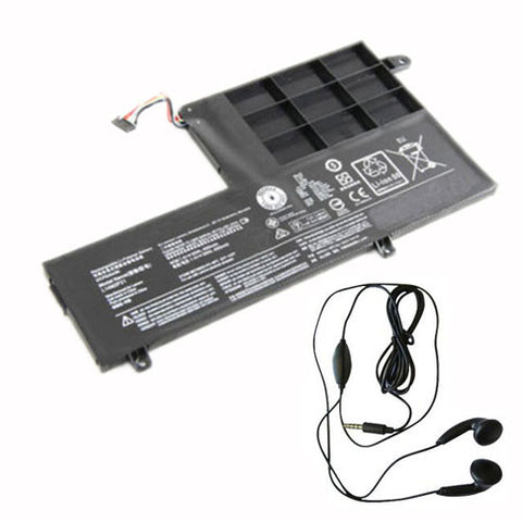 amsahr Extended Life Replacement Battery for Lenovo 2ICP6/54/90, 2ICP6S41-70, S41-70AM (7.4V, 30Wh) - Includes Stereo Earphone
