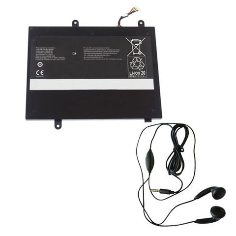 amsahr Extended Life Replacement Battery for Lenovo 31504999, 3INP6/60/80, 31NP6/60/8 (10.8V, 3750mAh) - Includes Stereo Earphone