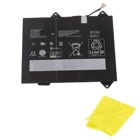 amsahr Replacement Battery for LENOVO 31505000, 3ICP5/46/75-2 (11.25V, 4000MAH/45WH, 6-CELL) - Includes Cleaning Cloth