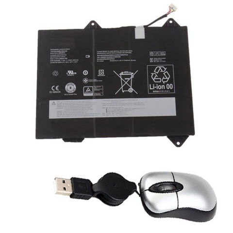 amsahr Replacement Battery for LENOVO 31505000, 3ICP5/46/75-2 (11.25V, 4000MAH/45WH, 6-CELL) - Includes Mini Optical Mouse