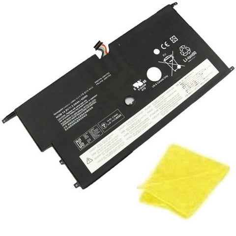 amsahr Replacement Battery for LENOVO 45N1703, 20BS003HMH, 20BTA0M400, 20BTA06CCD, 20BTA0FMCD, 20BTA01UCD, 20BTA0ANCD, 20BTA0AMCD, 20BTA07BCD (14.8, 3040mAh) - Includes Cleaning Cloth