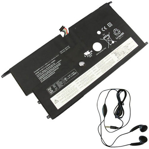 amsahr Extended Life Replacement Battery for LENOVO 45N1703, 20BS003HMH, 20BTA0M400, 20BTA06CCD, 20BTA0FMCD, 20BTA01UCD, 20BTA0ANCD, 20BTA0AMCD, 20BTA07BCD (14.8, 3040mAh) - Includes Stereo Earphone
