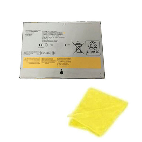 amsahr Replacement Battery for Lenovo L12N2P01, IDEAPAD YOGA 2 11, Lenovo MIIX2 10 SERIES, Lenovo 1ICP4/83/102-2 (3.75V, 6700mAh, 2Cell) - Includes Cleaning Cloth