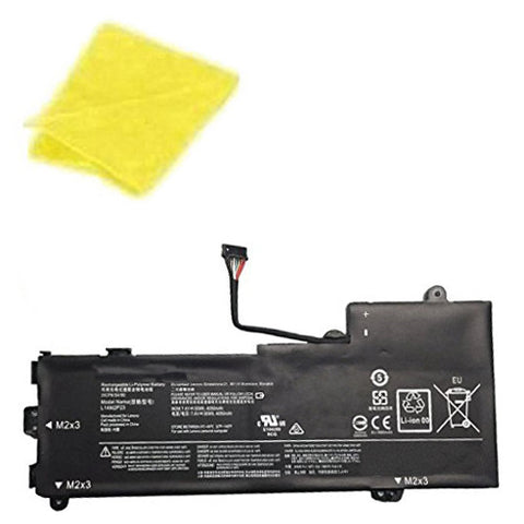 amsahr Replacement Battery for LENOVO L14M2P23, Lenovo 5B10K87714, 5B10K87722, 5B10K87714, 5B10K87722, L15M2PB2, L15M2PB3  (7.4V,  30Wh) - Includes Cleaning Cloth